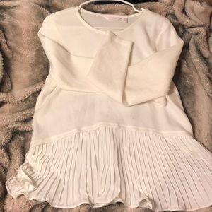 Lauren Conrad white flare sweater